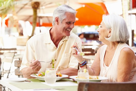 © Monkeybusinessimages | Dreamstime.com - Senior Couple Enjoying Lunch In Outdoor Restaurant Photo