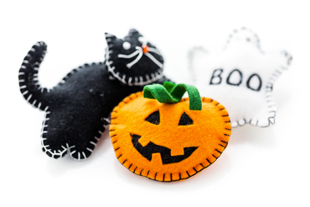 decorazioni-halloween_Arinahabich08 | Dreamstime.com - Fabric Pumpkins Photo